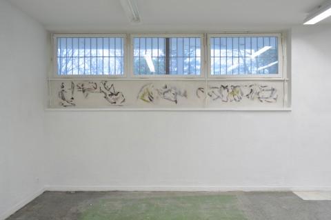 Edding 850 Stek, Walllust, Kunsthalle 2015 450x52cm